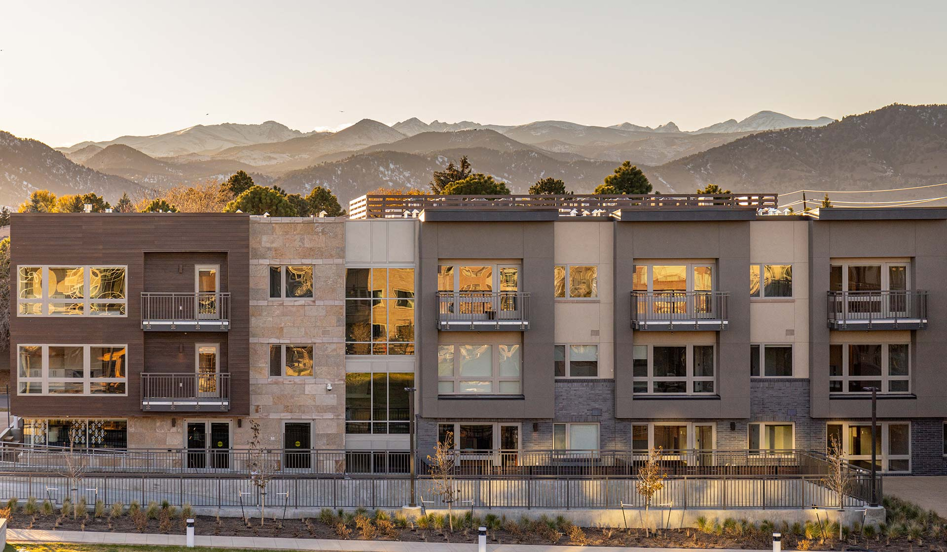 Parc Mosaic, Boulder CO - Exterior - New Construction - Flatirons